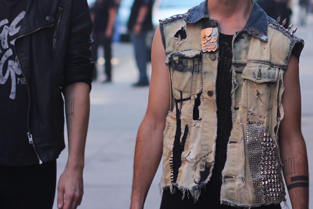Punk denim vest