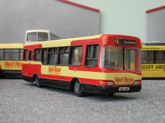 Coming up Rosy (quicksilver coaches) Tags: model redrose dennis oo aylesbury dart efe paragon diecast 176 code3 westonturville uvg resinkit urbanstar exclusivefirsteditions