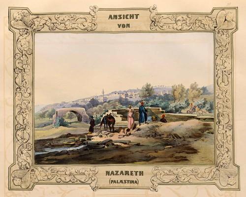 019-Vista de Nazaret en Palestina-Malerische Ansichten aus dem Orient-1839-1840- Heinrich von Mayr-© Bayerische Staatsbibliothek