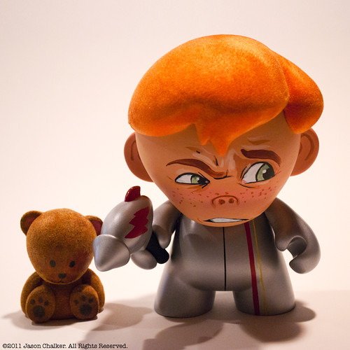 Astro Boy and Teddy Bear by Manly Art