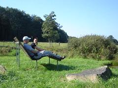 Eine Relax-Bank am Westerwald-Steig