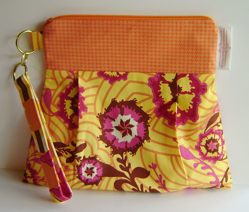 Louise Pleated Wristlet 2