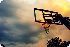 storm silhouette clouds basketballgoal