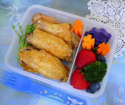 Tebasaki Chicken Wings Bento by sherimiya ♥