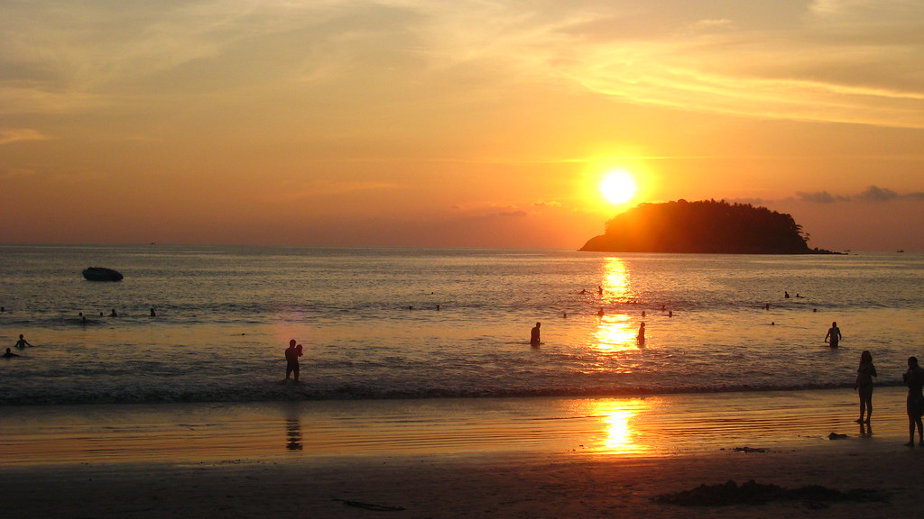 Sunset on Phuket's Kata Yai Beach