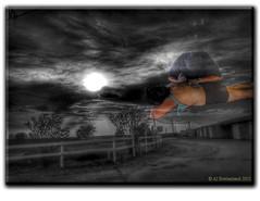 Floating Moonset