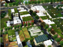 the neighborhood re-imagined with green infrastructure (by: Philadelphia Water Dept)