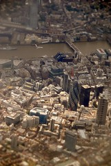 The City in Miniature (Mmolnes) Tags: london thames miniature downtown thecity thamesriver gerkin thegerkin tiltshift photoscape