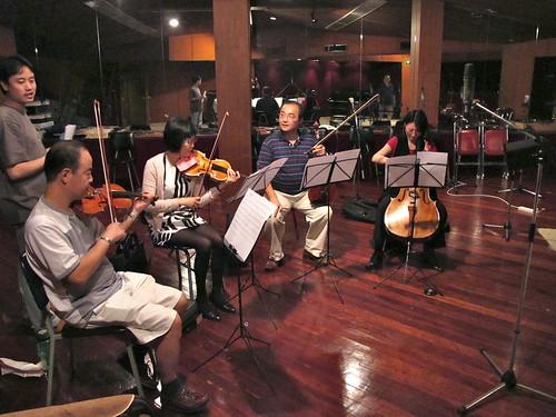 String quarter with arranger & conductor Bang Wenfu