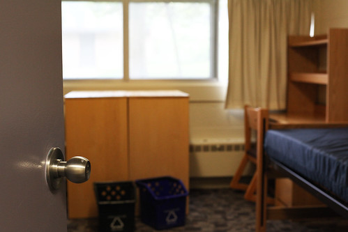 An empty dorm room