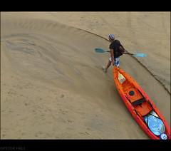 Fashionable Kayaker (peterphotographic) Tags: uk england beach hat coast seaside sand cornwall kayak harbour britain candid paddle canoe stives trilby kayaker canong12