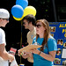 Student representatives talk about their organizations during the Campus Crawl.