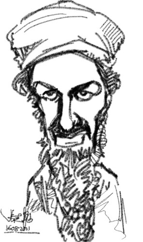 test drive HTC Flyer with Osama caricatures - 1