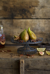 Figs (bognarreni) Tags: autumn summer food brown green still fig rustic fresh pecan maplesyrup foodstylingfoodphotography