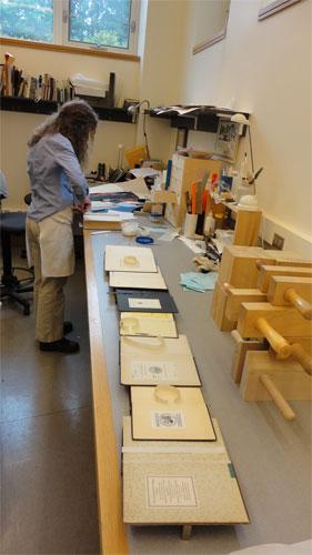 Book repair production line