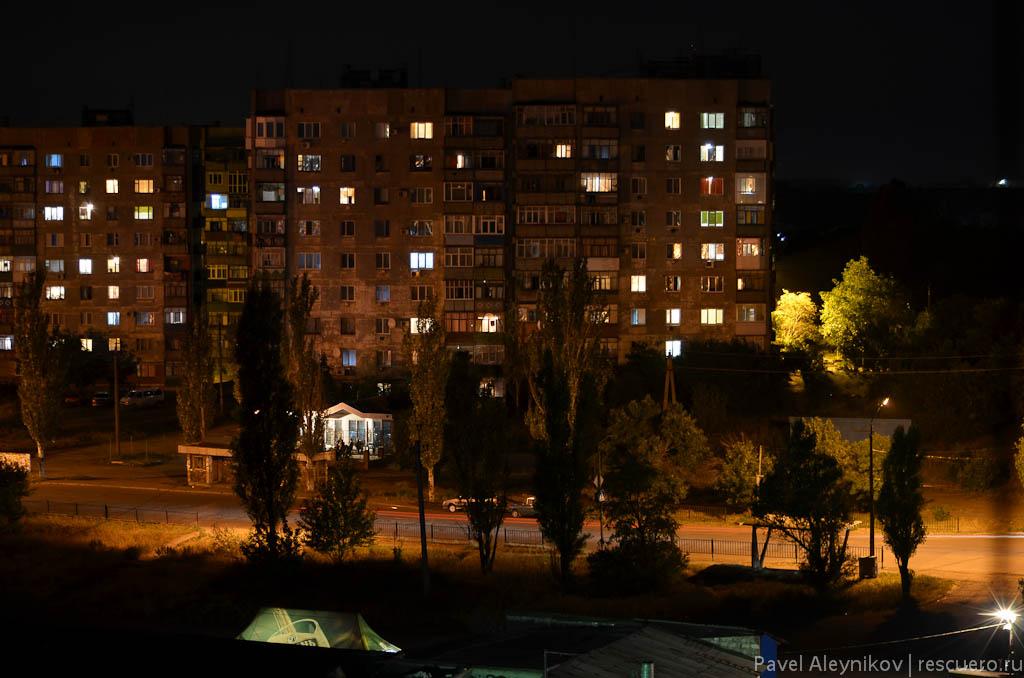 Ночная съемка. Город Торез, микрорайон 4