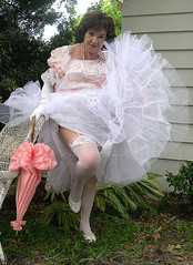 Me Pink White Garden Wedding (Sugarbarre2) Tags: city light shadow party portrait sky people urban woman baby hot tree green english nature beautiful grass leaves fashion self vintage mom fun photo big cool nikon long photographer lace south babe southern gloves mature short belle wife upskirt nylon petticoat