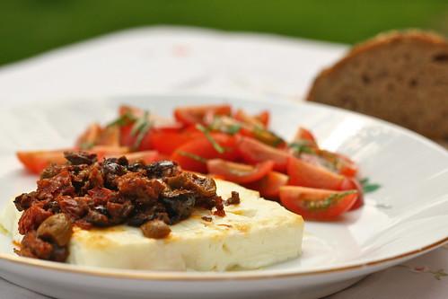 Feta met olijfjeslunch