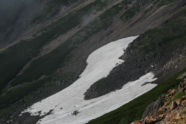 乗鞍岳大雪渓
