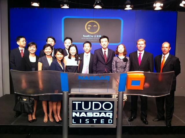 Tudou listing ceremony on NASDAQ