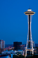 Space Needle at Twilight (dschultz742) Tags: seattle architecture nikon cityscape spaceneedle nikkor d300 nikonians davidschultzphotographycom edwardecarlsonjohngraham jrarchitectureseattlecenter mountbakercameraclub throughthelensrevelations