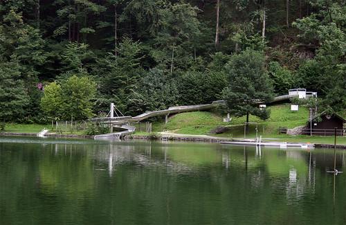 Wasserrutsche am Luegsteinsee