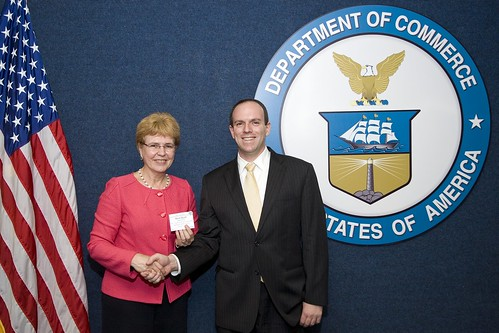 Knauss Fellow Brett Hartl with Dr. Jane Lubchenco