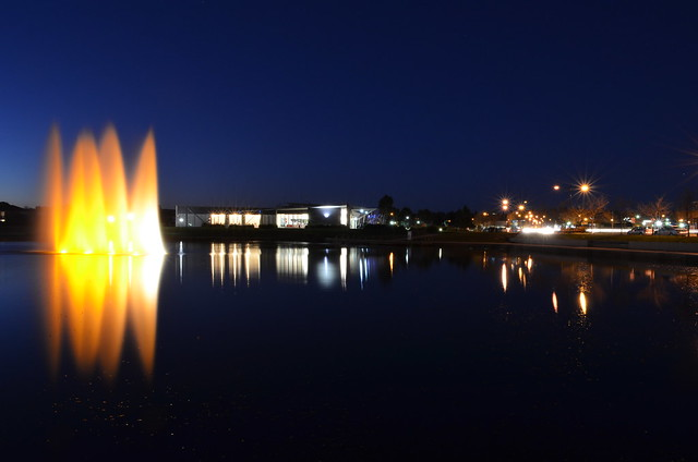 Lakeside at night
