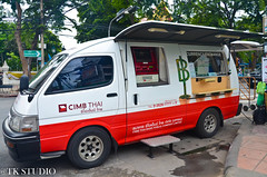 Mobile Bank (ecric) Tags: road money mobile thailand san bangkok bank changer thai malaysia van atm msia banking khao thais moneychanger kaosanroad cimb vanbanking