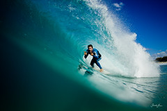 (SARAΗ LEE) Tags: blue man smile fun surf peace barrel wave australia queensland peacesign goldcoast straddie tos handsign waterhousing kobetich surfhousing