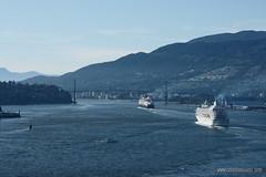 Nanaimo to Vancouver by air (Zorro1968) Tags: art vancouver aviation stock aerial cruiseship burrardinlet lionsgatebridge airborne artforsale harbourair