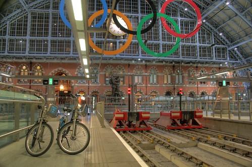 On the platform at St Pancras