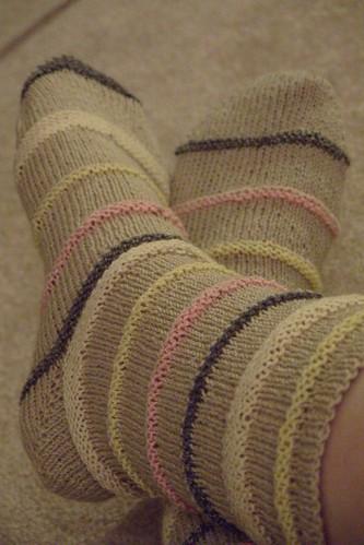 slinky socks by gradschoolknitter