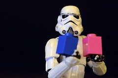 A flickr portrait (Kalexanderson) Tags: life pink blue white black logo flickr lego troopers plastic stormtroopersstar warstoysfamily 365daysofstormtroopers