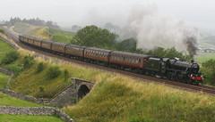 'Tain't Grain, 'Tis Rain (Richie B.) Tags: mountain black five rail railway cumbria and british express standard common carlisle settle the birkett cumbrian 43505