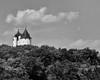 Turrets of Castle Gwynn (Josh Beasley) Tags: bw castle architecture tennessee castell gwynn arrington
