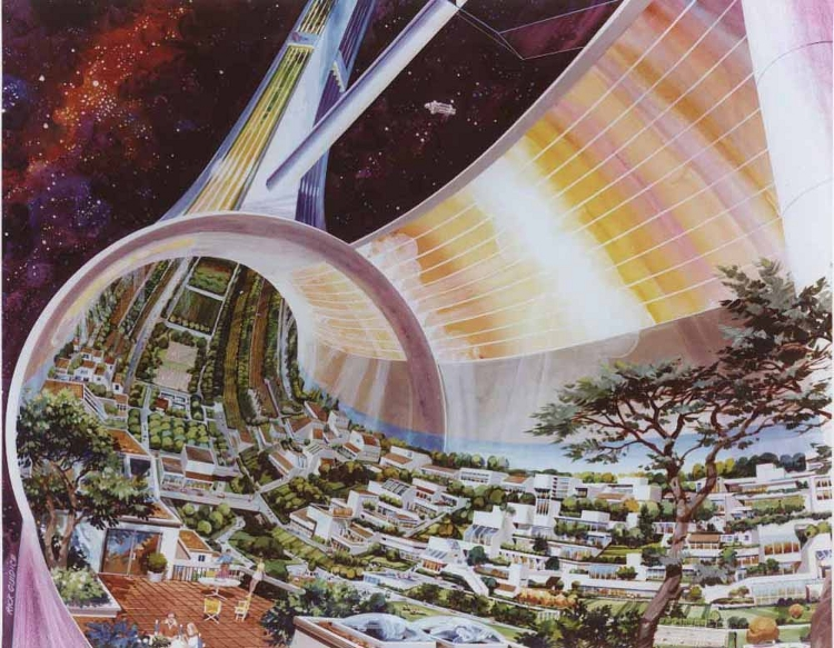 Space Colony Art From The 1970s The Public Domain Review