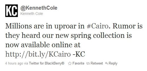 Kenneth Cole fail
