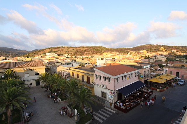 Downtown Villasimius in the southeastern corner of Sardinia