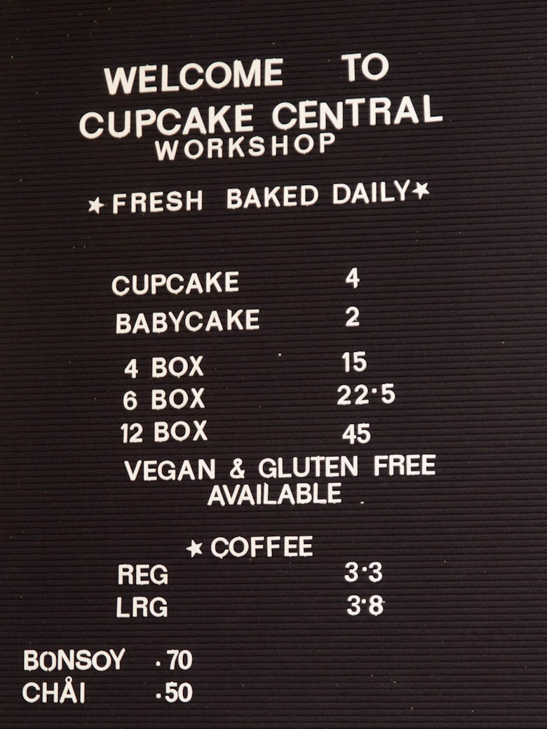 Cupcake Central - Sign