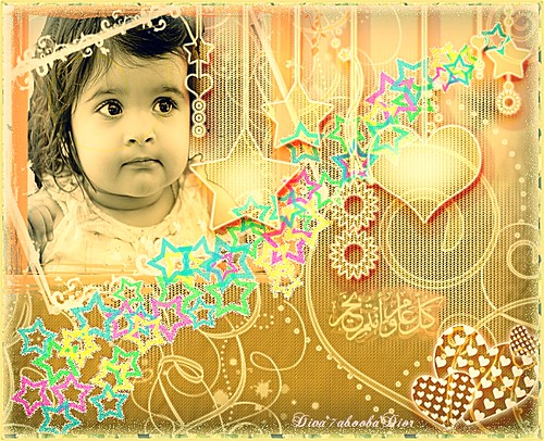 Eid said,baby & stars by **__Diva**7abo0oba**Dior__**