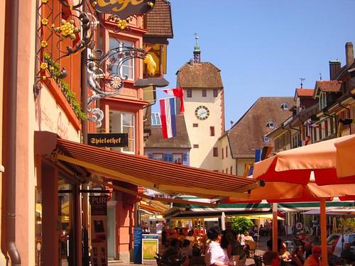 cheerful german town waldshut tiengen by Danalynn C