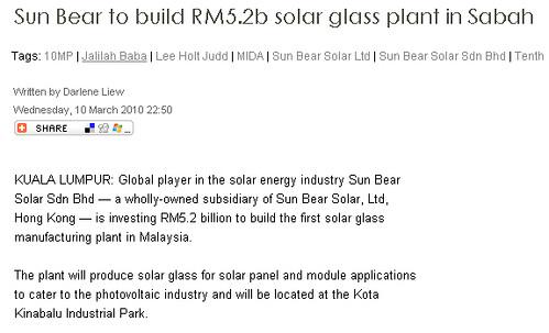 RM5-2b solar glass Sabah