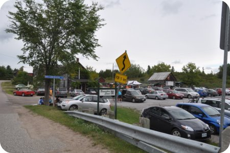 Parking lot outside Bonnechere Caves