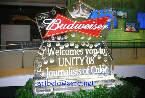 Budweiser at Unity 08 ice sculpture