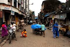 A cramped, narrow lane in Kamathipura, Mumbai (jaideep.vaidya) Tags: mumbai kamathipura redlightarea biggestredlightarea