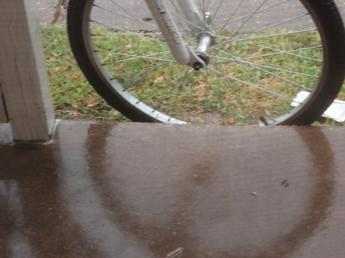 Rain with Bike Tire