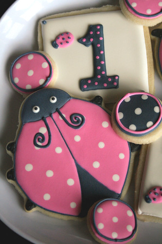 Little Lady Ladybug Cookies.