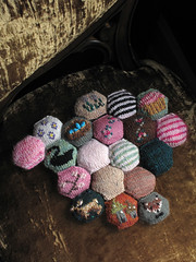 Bee Keeper's Quilt: variations on a theme (chronographia) Tags: knitting modular hexagons