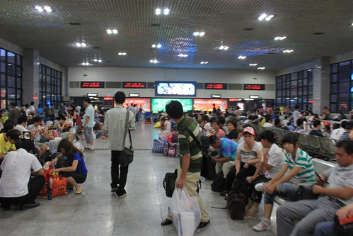 Waiting area at Beijing Train Station, China